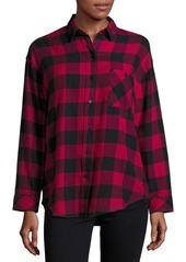 Rails Cotton-Blend Checkered Shirt