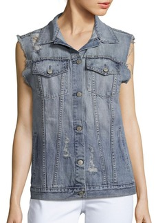 Rails Elsa Distressed Denim Vest