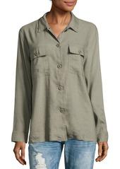 Rails Everett Linen-Blend Solid Shirt