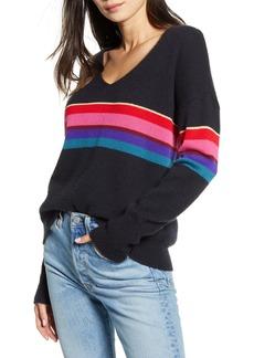Rails Gracie Stripe Wool Blend V-Neck Sweater
