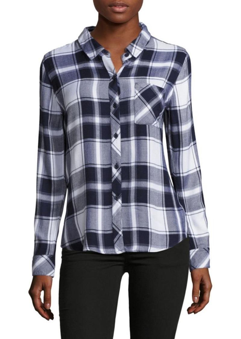 Rails Hunter Spread-Collar Plaid Shirt