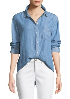 Rails Ingrid Raw-Edge Button-Front Shirt
