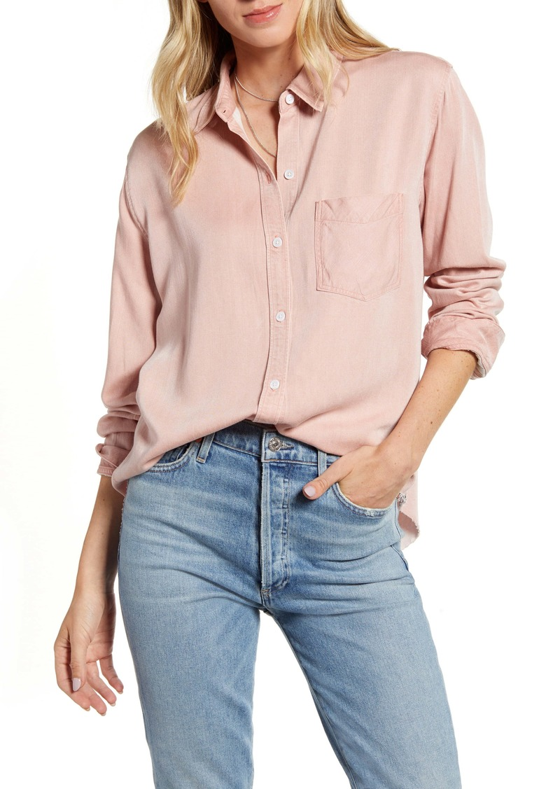 Rails Ingrid Raw Hem Button-Up Shirt