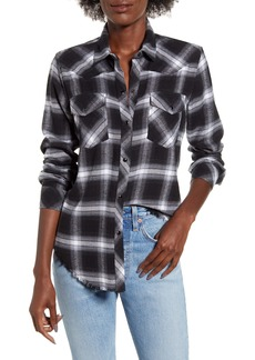 Rails Jaxton Plaid Frayed Hem Twill Shirt