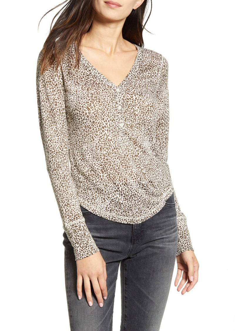 Rails Jourdan Long Sleeve Linen Blend Top