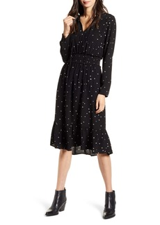 Rails Joy Star Print Long Sleeve Dress