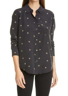 Rails Kate Silk Button-Up Shirt