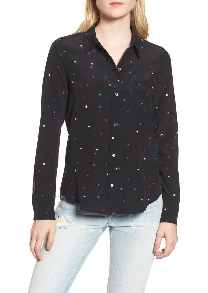 7e9984026e9241 Rails Rails Kate Star Print Silk Blouse | Casual Shirts