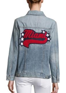 Rails Knox Miami Distressed Cotton Denim Jacket