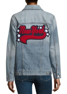 Rails Knox New York Distressed Cotton Denim Jacket