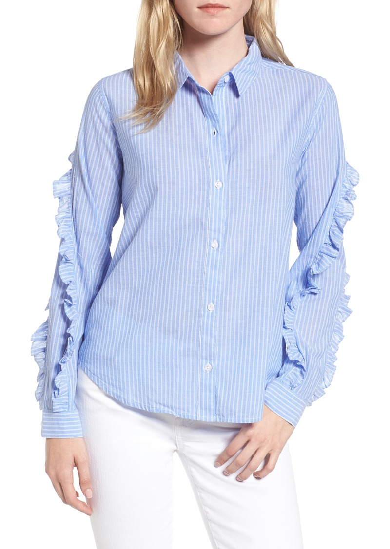 8890043b8e7d79 Rails Rails Lizzi Ruffle Pinstripe Blouse | Casual Shirts