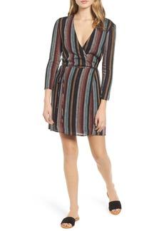 Rails Lola Metallic Wrap Dress