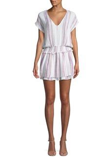 Rails Lucca Striped Linen-Blend Mini Dress