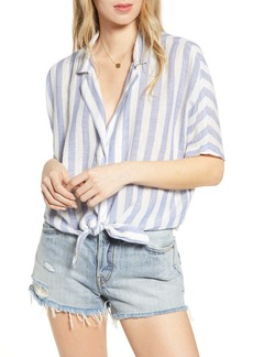 Rails Marley Stripe Tie Front Top