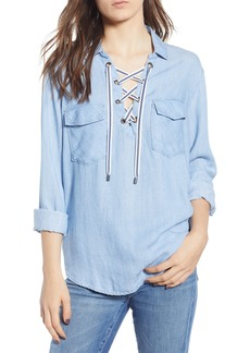 Rails Matea Lace-Up Top