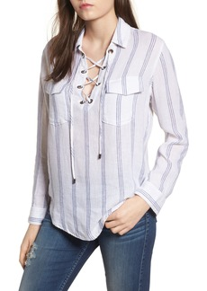 Rails Matea Stripe Lace-Up Top
