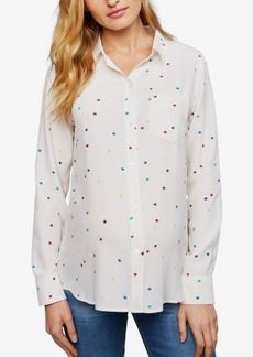 Rails Maternity Printed Silk Blouse