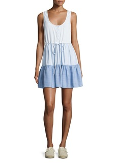 Rails Noelle Colorblocked Denim Dress