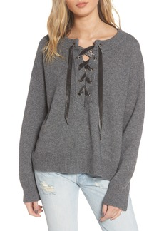 Rails Olivia Wool & Cashmere Lace-Up Sweater