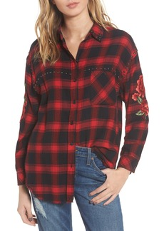 Rails Owen Studded Plaid Shirt