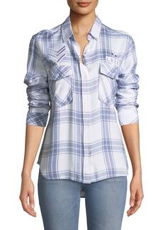 Rails Pepper Button-Front Long-Sleeve Plaid Shirt