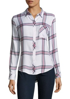 Rails Plaid Hi-Lo Button-Down Shirt