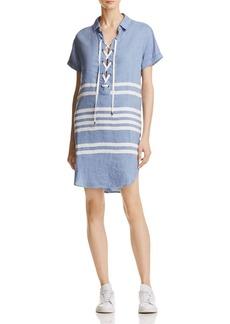 Rails Rocky Striped Lace-Up Shirt Dress