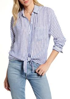 Rails Rylan Stripe Tie Front Shirt