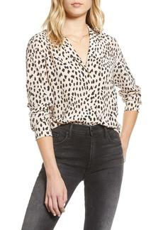 Rails Spot Pattern Silk Button Up Shirt
