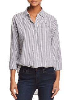 Rails Taylor Embellished Striped Shirt
