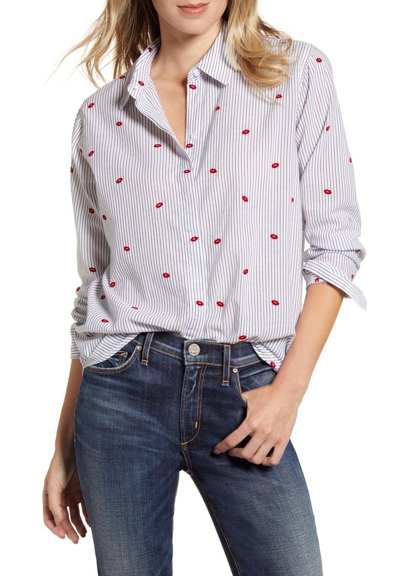 Rails Taylor Heart Stripe Shirt