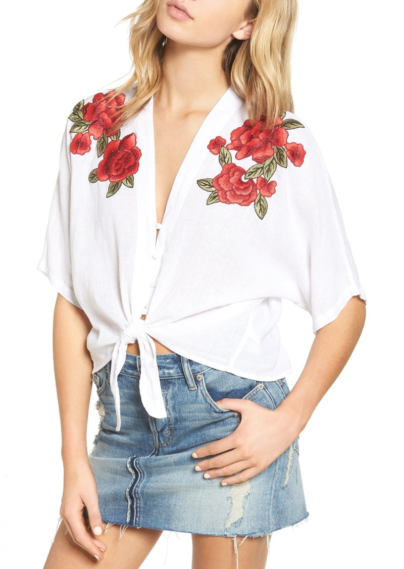 4288dba8 Rails Rails Thea Embroidered Tie Front Crop Top | Casual Shirts