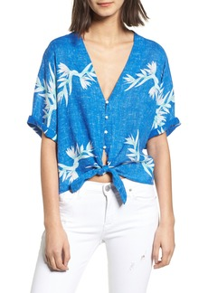 Rails Thea Tie Front Crop Top