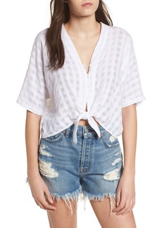 Rails Thea Tie Waist Cotton Blouse