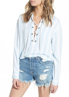 Rails Uli Lace-Up Top