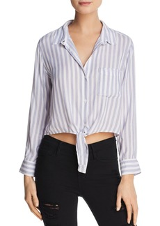 Rails Val Cropped Stripe Blouse