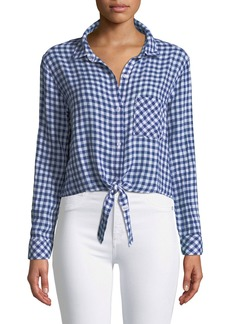 Rails Val Tie-Hem Gingham Shirt