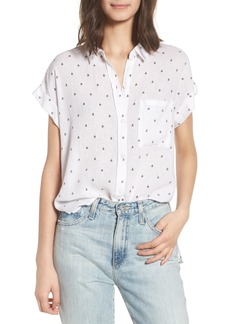 Rails Whitney Sailboat Print Linen Blend Shirt