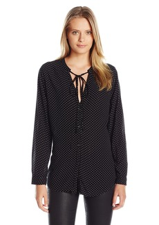 Rails Women's Abby Long Sleeve Tie Neck Blouse