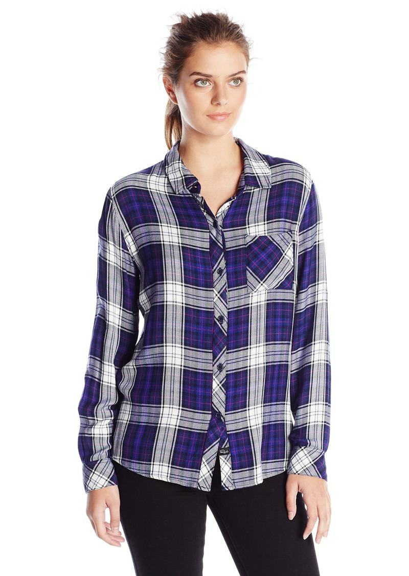 Rails rails women 39 s hunter long sleeve button down plaid for Plaid button down shirts for women
