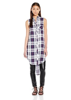 Rails Women's Jordyn Plaid Sleeveless Tunic Pocket Shirt