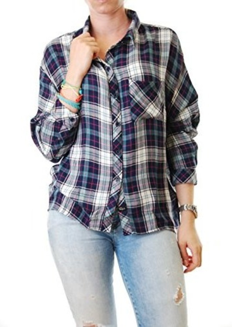 Rails rails women 39 s maddox dolman sleeve plaid button down for Plaid button down shirts for women
