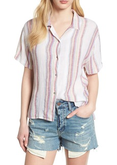 Rails Zuma Stripe Linen Blend Top