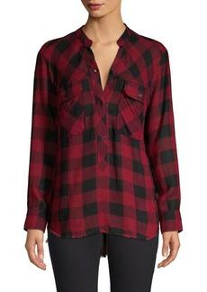 Rails Redding Linen-Blend Plaid Shirt
