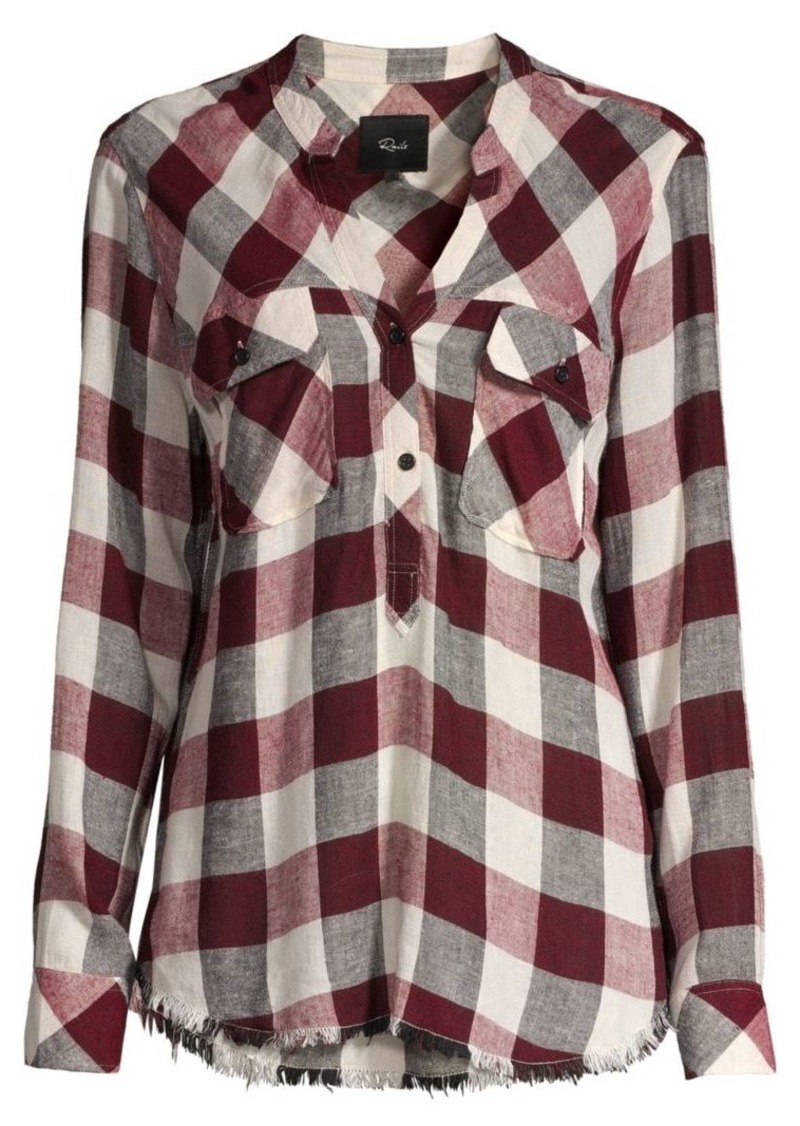 Rails Redding Plaid Blouse