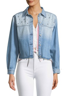 Rails Rylan Studded Cropped Denim Jacket