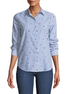 Rails Taylor Striped Star-Print Button-Front Top