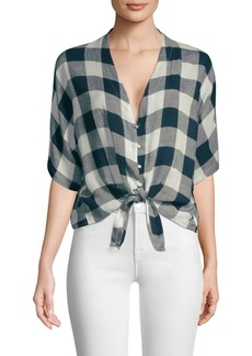 Rails Thea Check Tie-Front Top