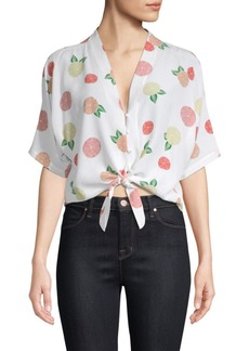 Rails Thea Citrus Silk Tied Tee