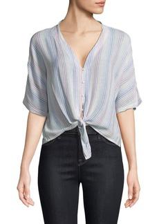 Rails Thea Stripe Tie-Front Shirt